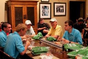 A few golfers enjoyed lunch with Nebraska FFA State Officers.
