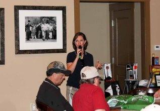 Stacey Agnew, Nebraska FFA Foundation Executive Director, gives remarks on Nebraska FFA.