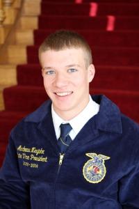 Andrew Neujahr, Nebraska FFA State Vice President