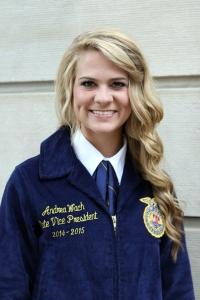 Andrea Wach, Nebraska FFA Vice President