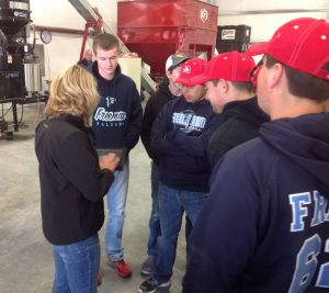 Freeman Ag Ed students learn about all the information an agronomist can now carry with her when working with clients.