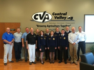 Several members of CVA's management team met with the State FFA Officers this August.