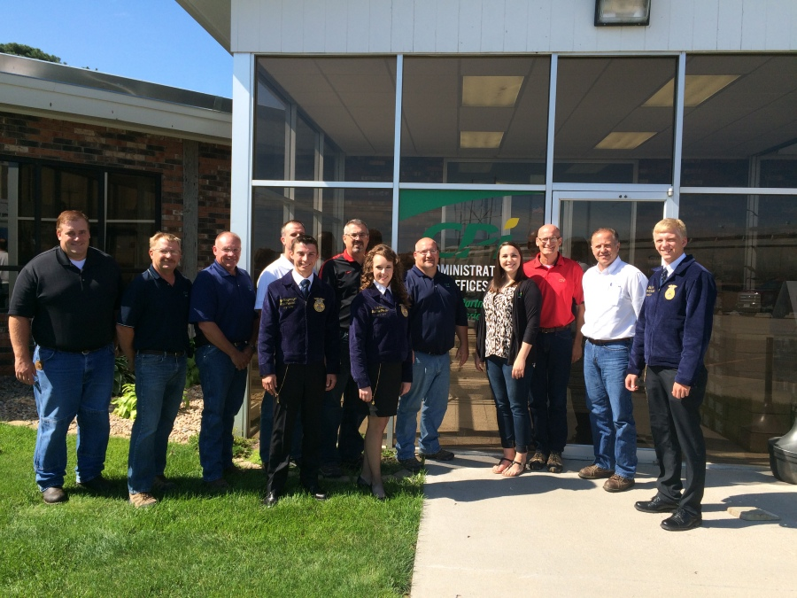 The Nebraska FFA State officers visited CPI this summer.